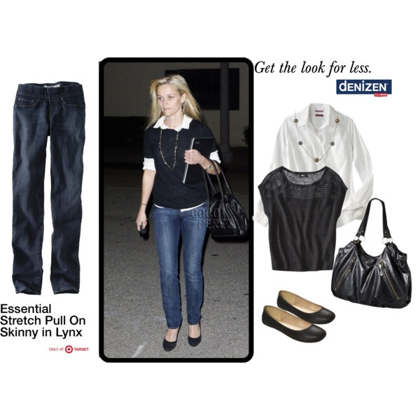 We love Reese Witherspoon's look! It is great for every occasion. Get the look for less with #DENIZEN #jeans only at #Target.