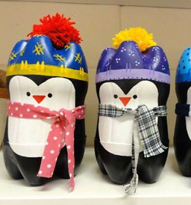❤ Adorable penguins from plastic bottles ❤Mindy - craft idea & DIY tutorial collection