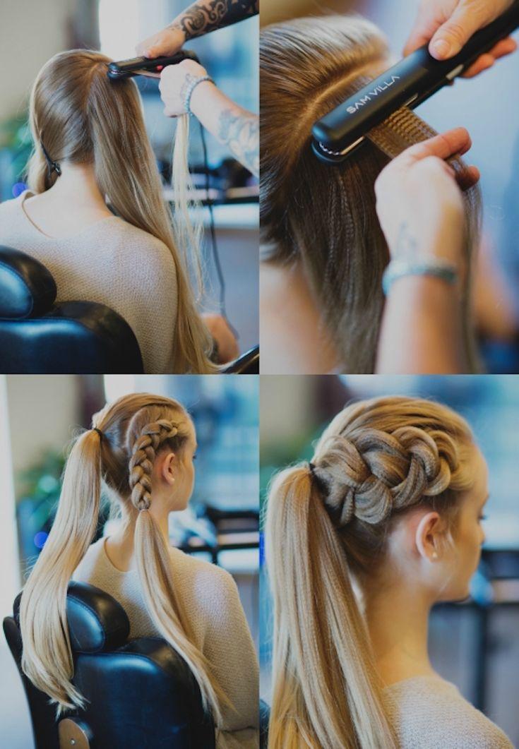 wikinger frisuren frauen haare kreppen anleitung #frisuren #hairstyle #hair