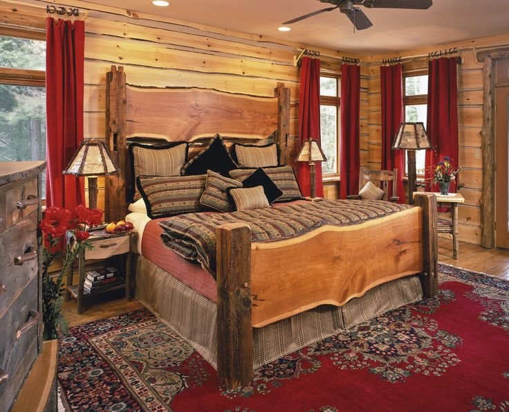17 Best Ideas About Log Cabin Bedrooms On Pinterest Log Cabin Plans Log Ca