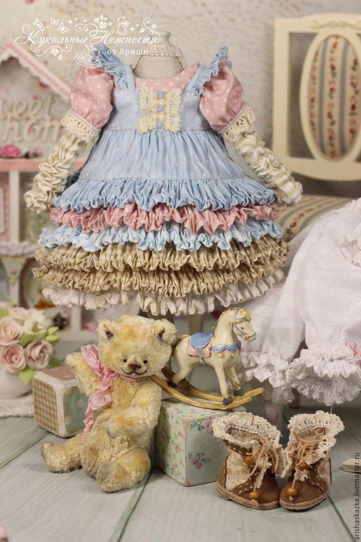 Купить Одежда для куклы в стиле шебби-шик . Винтажная лошадка . - куклы, одежда для кукол