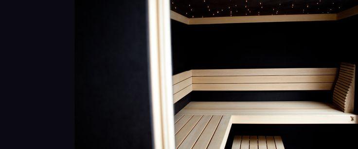 Reindeer Sauna's: zwarte maatwerk sauna. www.reindeer.eu