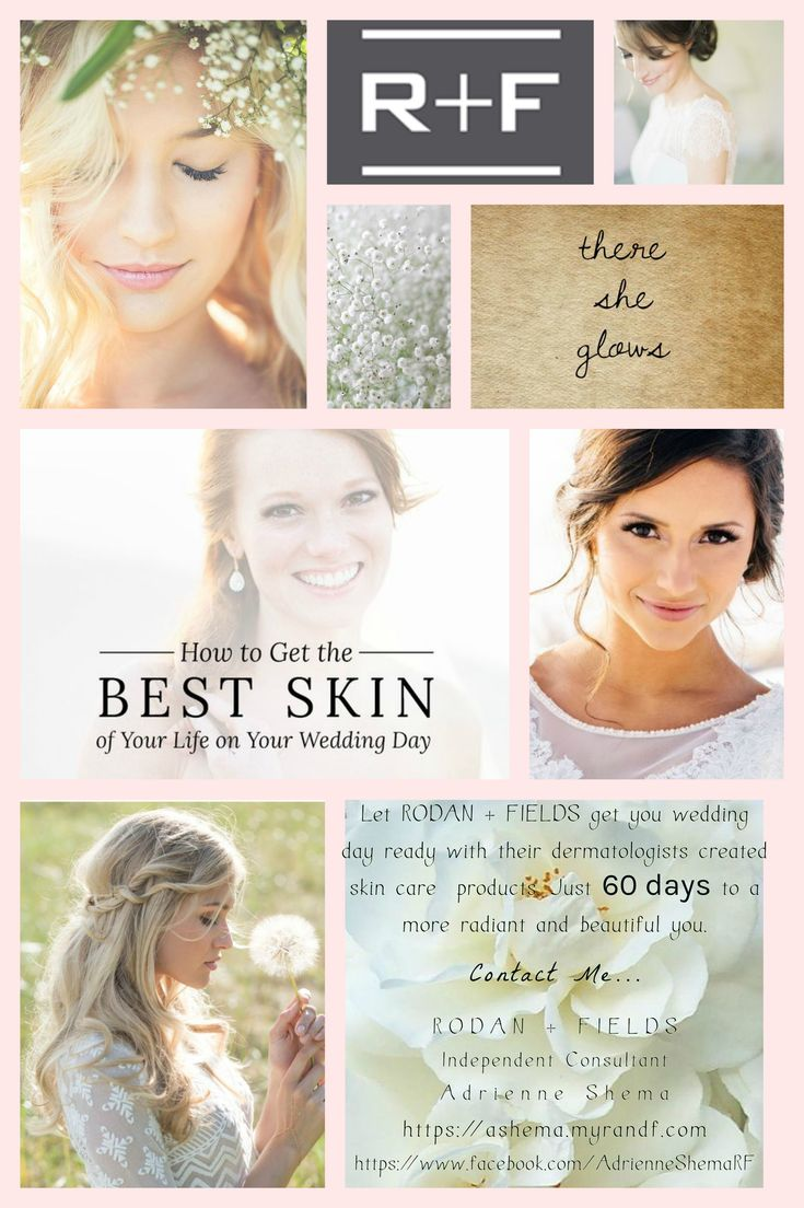 Get wedding day ready with beautiful and clear skin.  RODAN + FIELDS dermatologists created skin care can help.  Just give us 60 days!