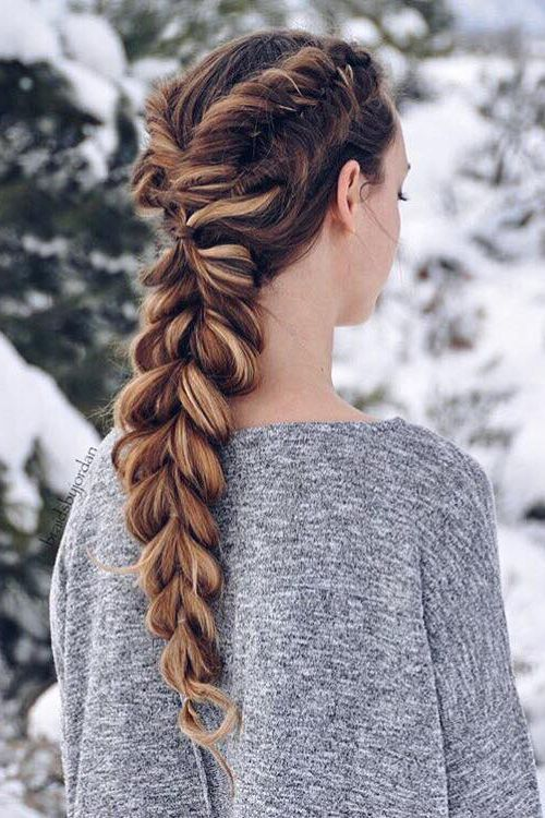 Dutch Fishtails & A Pull-Through Braid <3 @braidsbyjordan is wearing her Dirty Blonde #LuxyHairExtensions for highlights and thickness in her braid.: