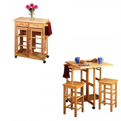 Details About Breakfast Table Set 3 Piece Folding Dining