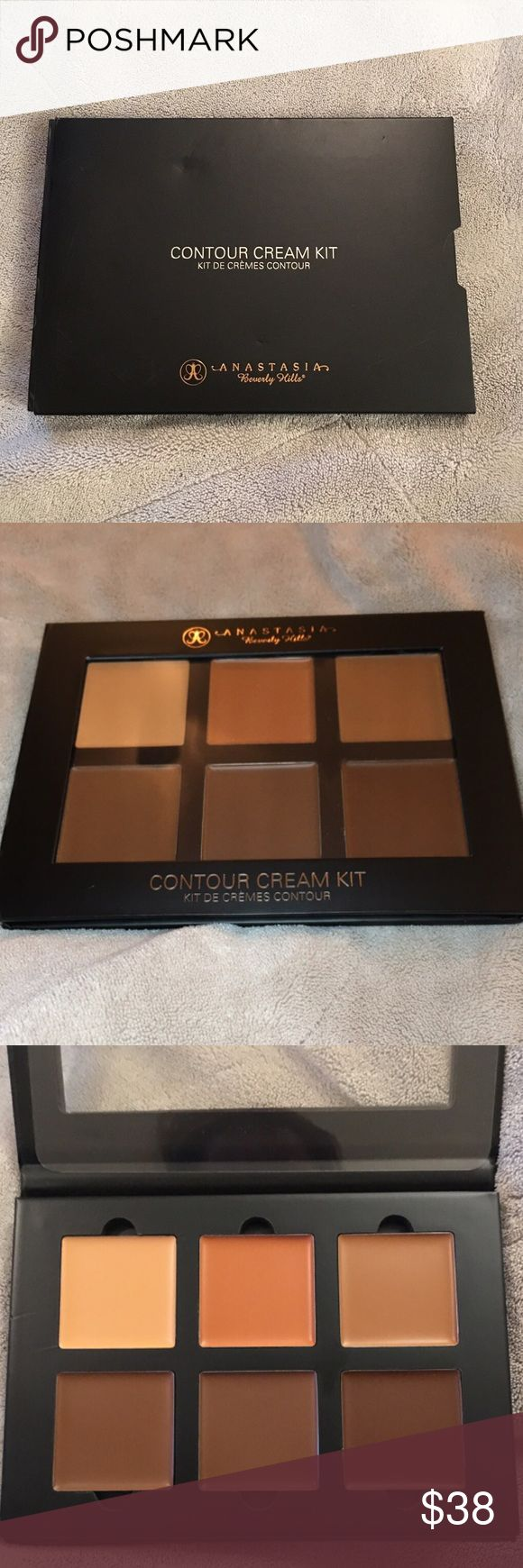 Anastasia Beverly Hills Deep Contour Cream Kit 100% Authentic Anastasia Beverly Hills Deep Contour Cream Kit  - Deep color - Brand new Anastasia Contour Kit : Deep  - Contouring and highlighting creams to dramatically sculpt and enhance your features. Creams have a rich, blendable texture ideal for heavy highlight and contour. Available in 3 palettes for all skin. Some shades act as ideal correctors for skin discoloration.  Shades Nude, Coral, Cinnamon, Chocolate, Espresso, Carob  New! Never…