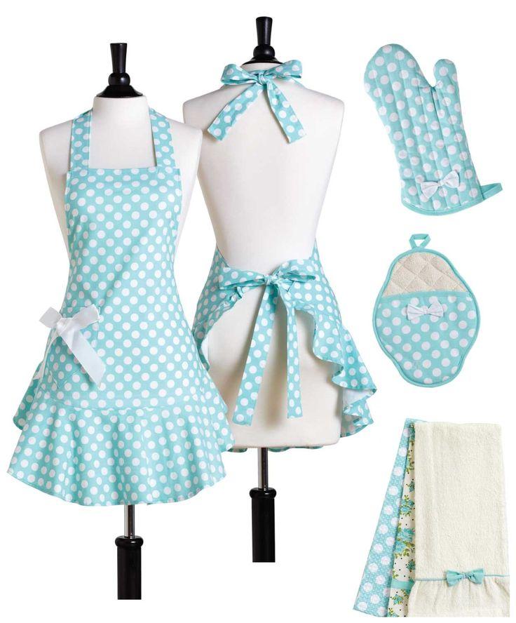 cute matching apron set