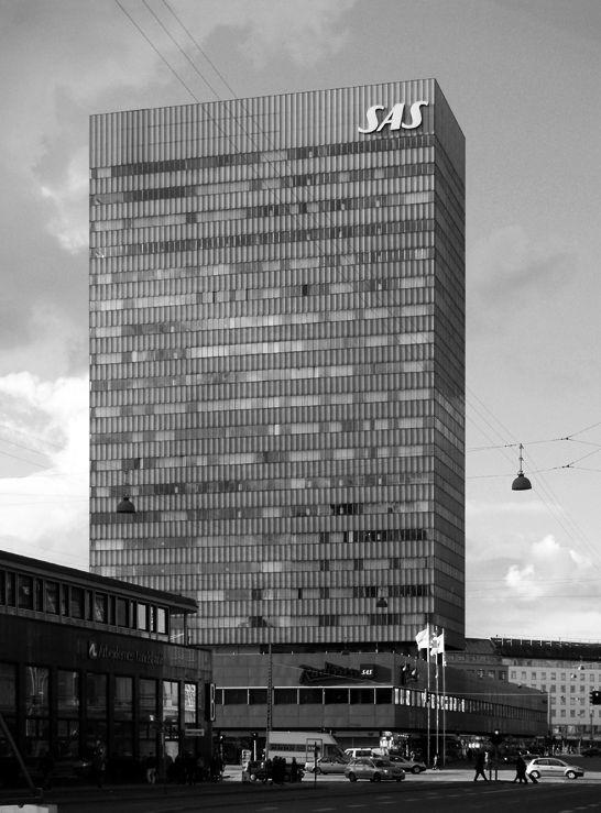 SAS ROYAL HOTEL, Copenhagen (now Radisson Blu Hotel) by Arne Jacobsen (1955-1960)