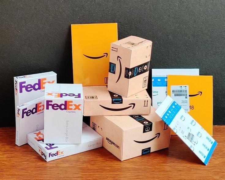 Amazon box printable combo set amazon boxes fedex boxes
