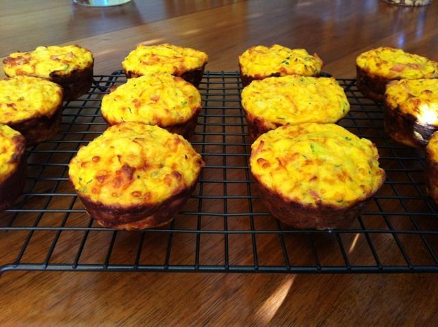I've always like the idea of zucchini slice / muffins but found them a little bland. I've tweaked various recipes and was really happy with this combination using sweet chilli sauce.