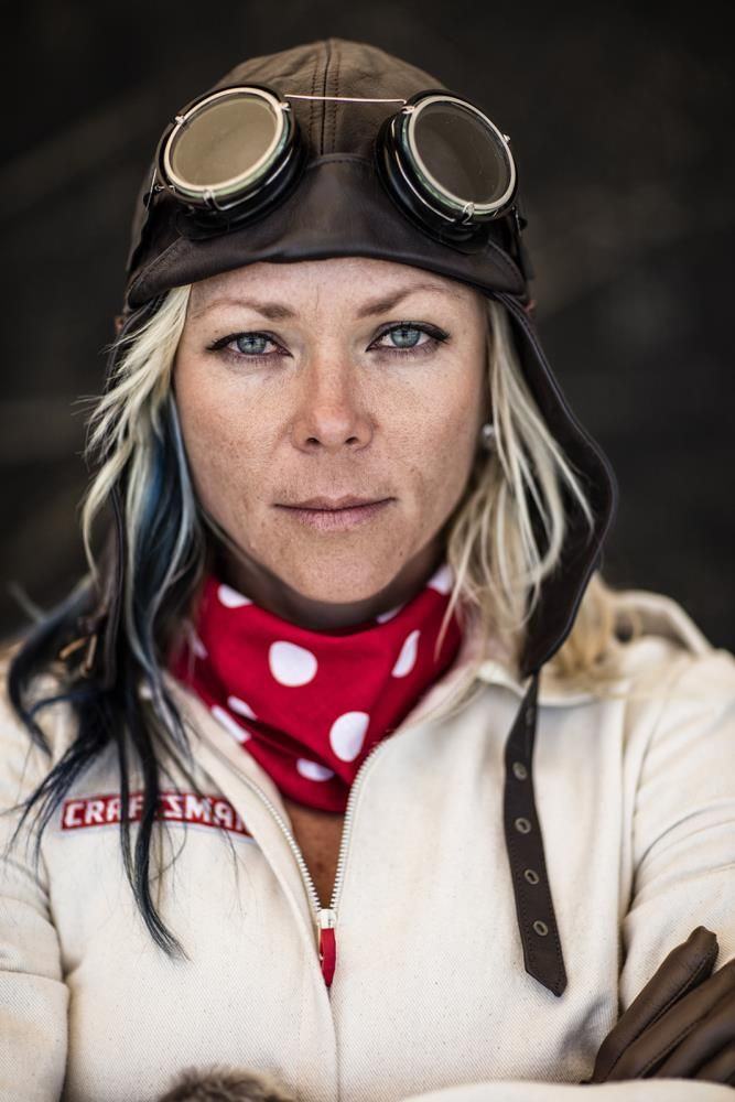 Jessi Combs head shot from speed run at Alvord Desert