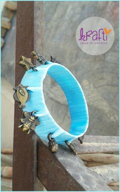 Handmade krafti charm bangles.