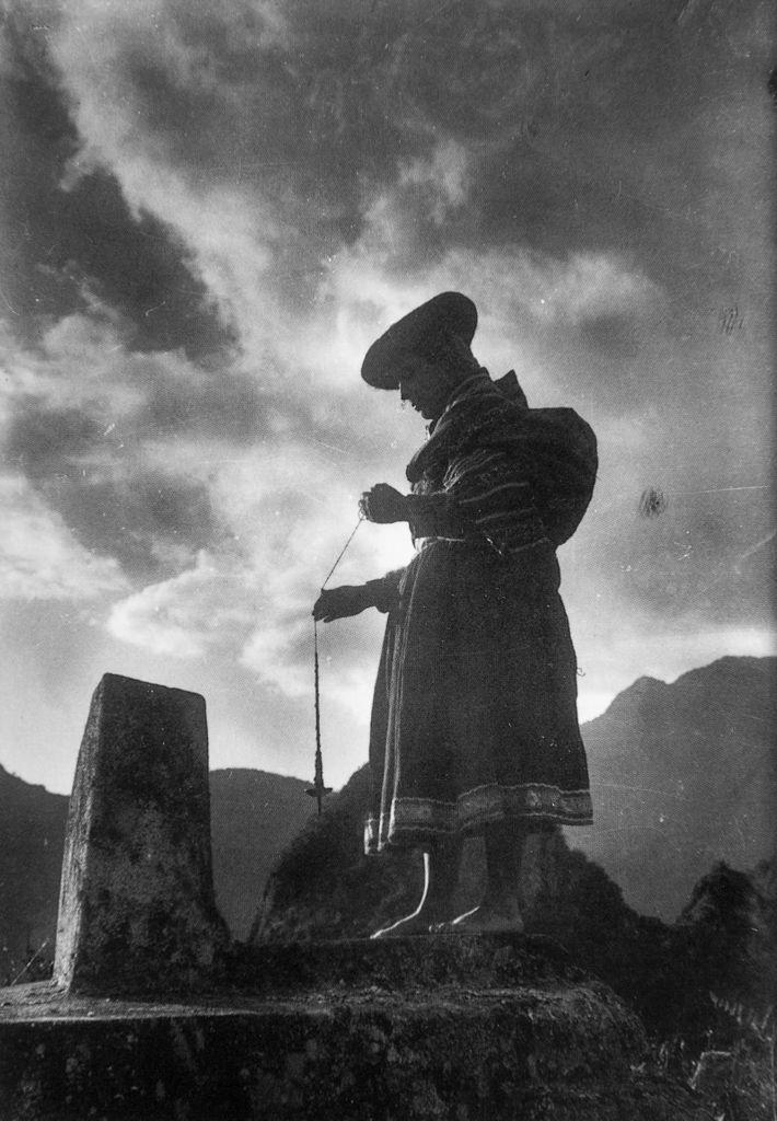 The Sundial on Macchu Picchu, Peru, 1928, Martín Chambi