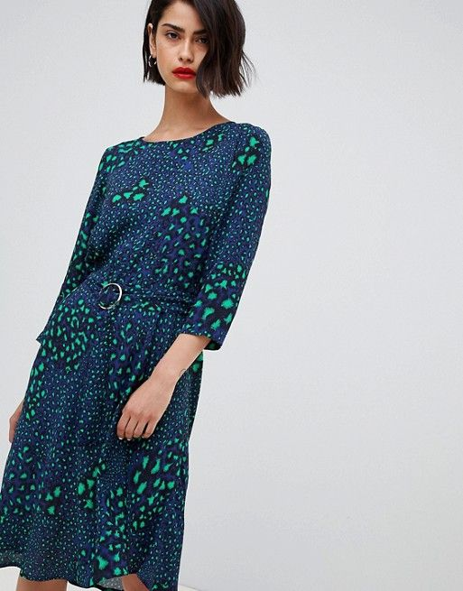 2NDDAY belted dress in multi leopard print | Belted dress