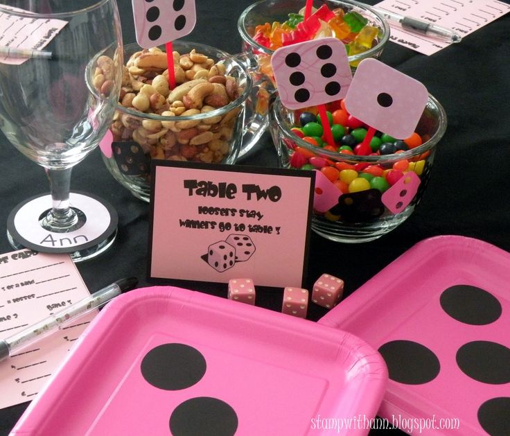 I hosted Bunco last night.  These are the table decorations I made with Cricut, SCAL & Vinyl.   I made the Bunco dice in Inkscape.  Click HE...