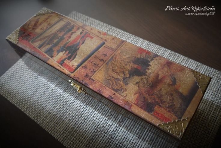 Wooden box for whisky in chinese style www.meriart.pl.tl #handmade #meriart #oriental #forman