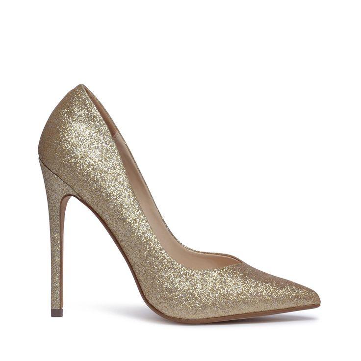 Steve Madden glitter pumps goud