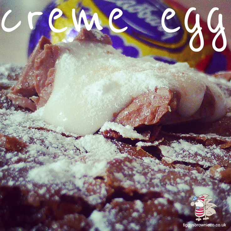 Creme egg brownies  http://tiggysbrownieco.co.uk/product/cream-egg-brownies/ #brownies #chocolate #cremeegg #delicious #deliver #bypost #Cheshire
