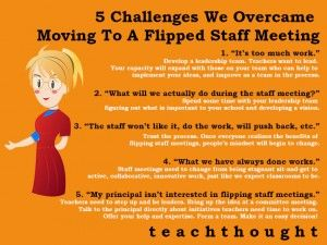 Flipped Staff Meetings: Why Didn't We Do This A Long Time Ago?