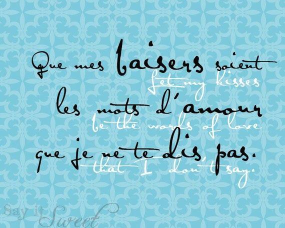 Laissez My Kisses être The mots d'amour que je ne par SayItSweet