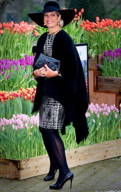 Koningin Máxima bij de uitreiking tuinbouwprijs in Lisse.- Koningin Máxima bij het Oranje Nassau Paviljoen in de Keukenhof,voor afgaand  aan de uitreiking van de Tuinbouw Ondernemingsprijs.  6-1-2016