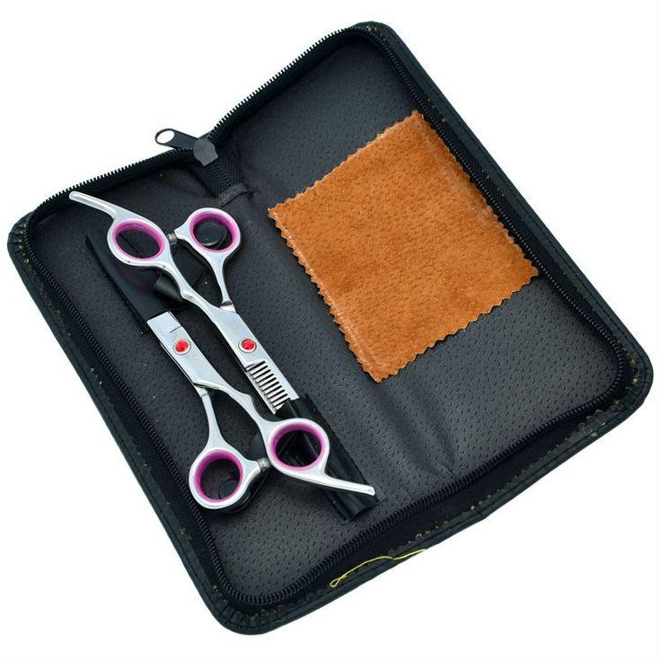 "6.0"" VS Scissors Kit Professional Salon Cutting & Thinning Hair Shears Hairdressing Barber Set Case, LZS0118"