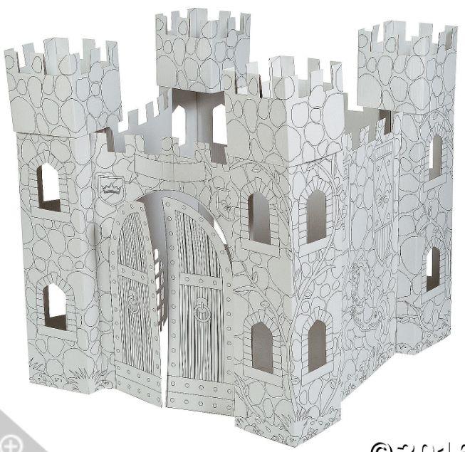 #castle #craft #diy #colour #kids