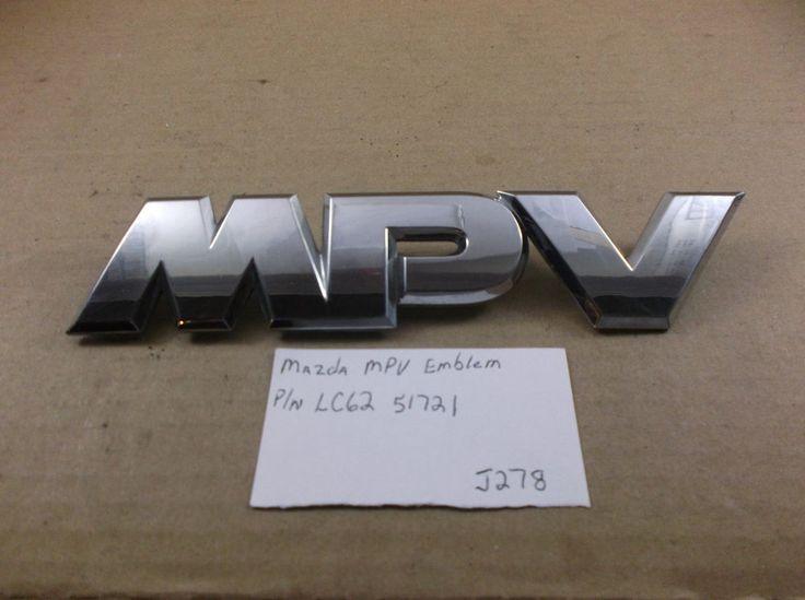 2000 - 2006 Mazda MPV--Rear Emblem Name Plate Badge #LC62-51721 oem J278 #Mazda