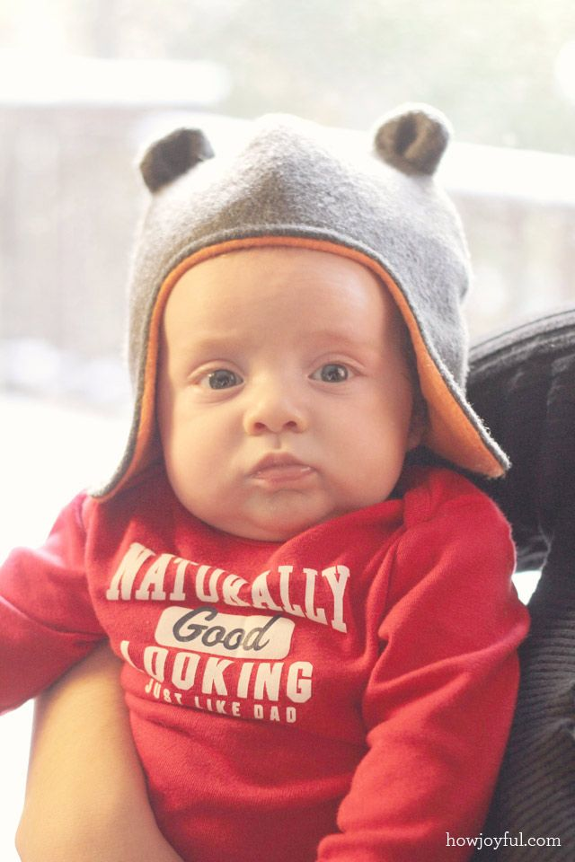 How Joyful Blog | Joyful baby hat with teddy bear ears – Tutorial and pattern