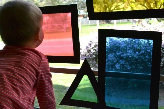 coloured window shapes