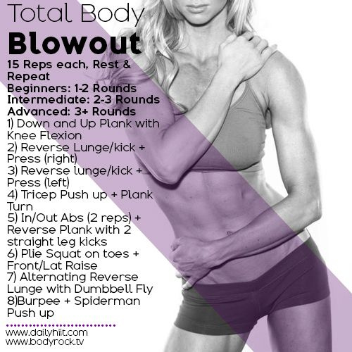 Bikini Ready; this workout will have you panting & sweating in no time. Try for minimum 2 rounds; advanced try 3-4 rounds.