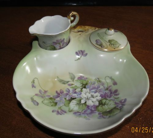 Vintage RS China Berry Bowl Cream and Sugar with Matching ...