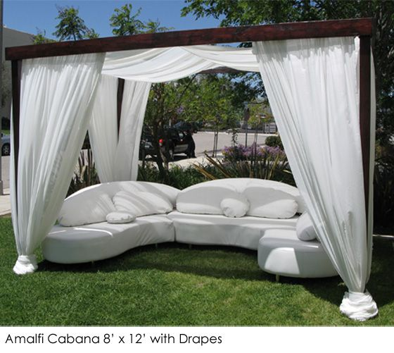 Another Cabana Love The Dark Wood White Fabric