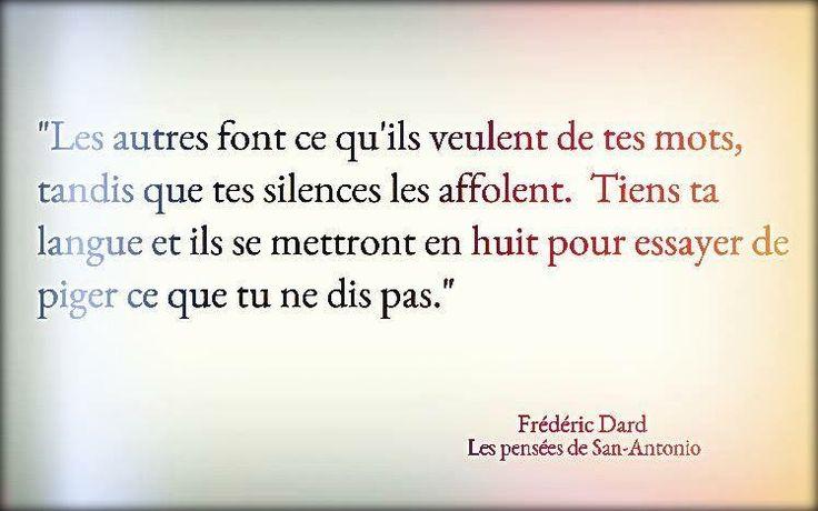 """Frédéric Dard """"Les pensées de San-Antonio"""""""