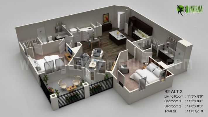 3d Floor Plan By Atul Gupta At Floor Plan Design Architectural Design Studio House Plans
