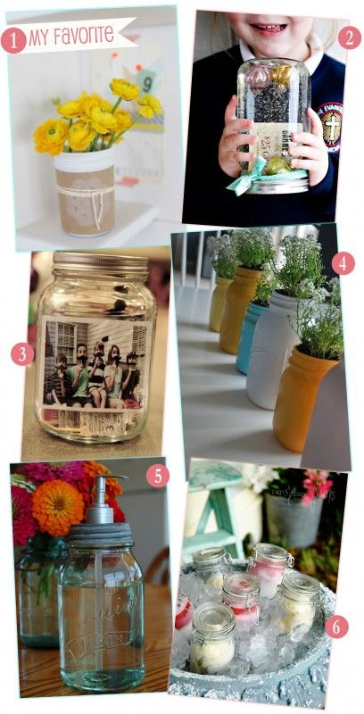 155 best mason and canning jars images on pinterest bath for Cool things to do with mason jars