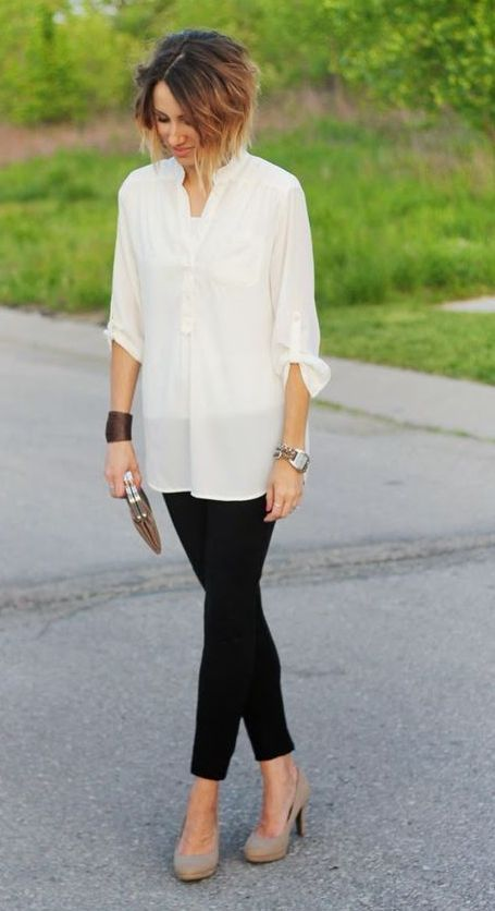 50+ Comfy Blouse And Pants Work Outfits Ideas 34