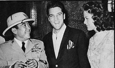 ~ Elvis with the former President of Indonesia Sukarno