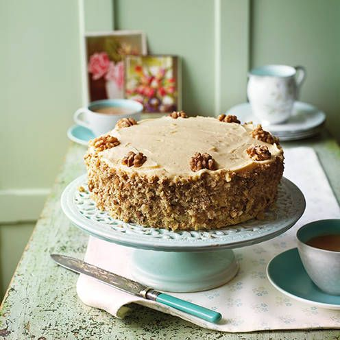 Meeting friends for a coffee? Make this triple-tested coffee and walnut cake for friends instead and enjoy the same caffeine buzz!