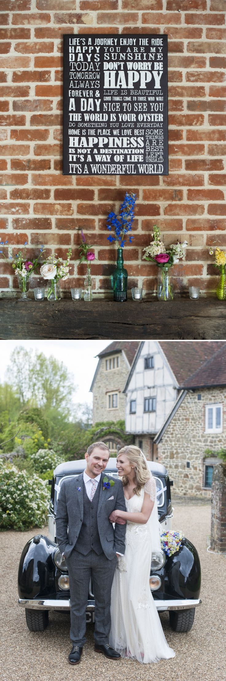 Eden by Jenny Packham in Ivory for a romantic rustic wedding at Grittenham Barn West Sussex 0378