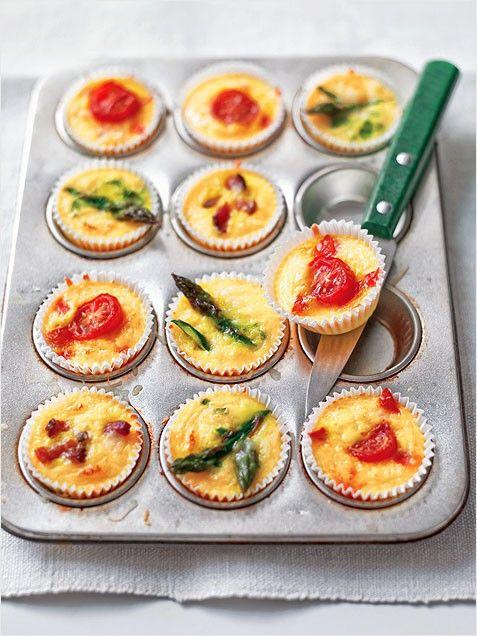 Crustless Mini Quiche Recipe. #breakfast http://www.ivillage.com/easy-brunch-recipes/3-b-304304#400137