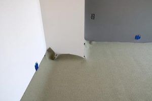 A carpet kicker makes trimming excess carpet easy.