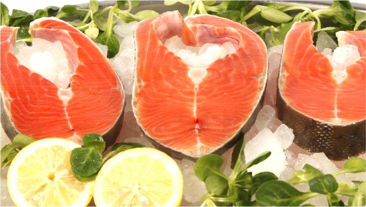 Rodajas de salmón. Presentado en bolsas de 1 Kg. $8.67