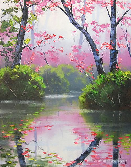 """""""Peaceful River"""" Mounted Prints by Graham Gercken 