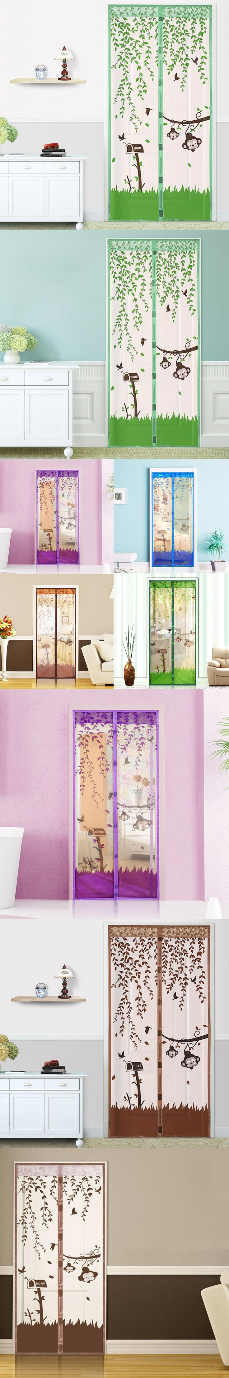 1PC High Quality 90*210cm/100*210cm Magnetic Mesh Screen Door Fly Bug Insect Mosquito Net Curtain