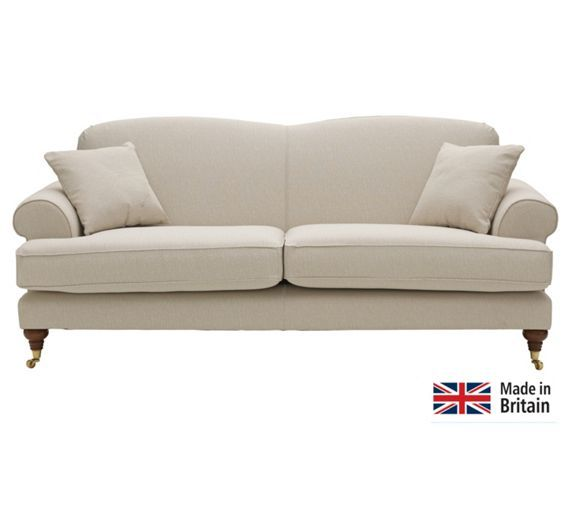 Buy Heart Of House Sherbourne Large Fabric Sofa Natural
