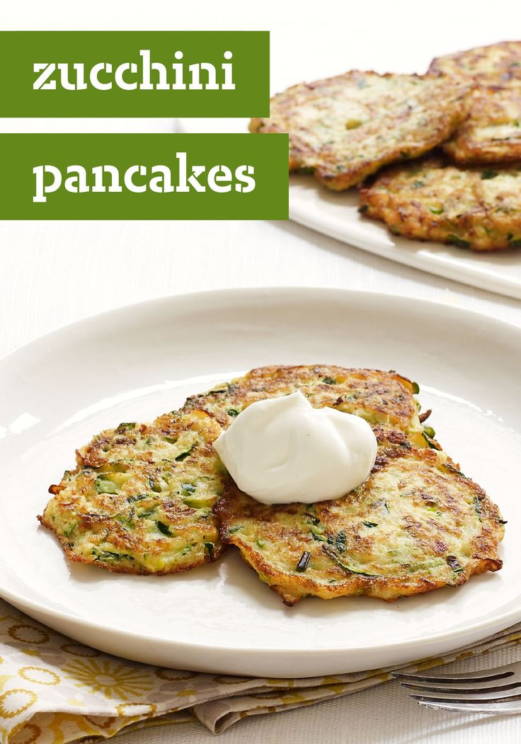Zucchini Pancakes – Toss grated zucchini with eggs ...
