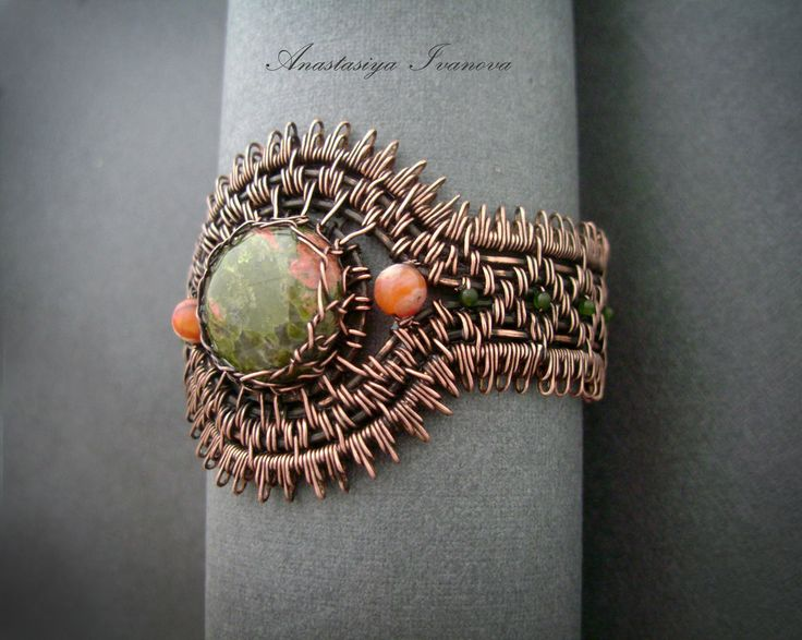 bracelet with unakite by nastya-iv83.deviantart.com on @deviantART