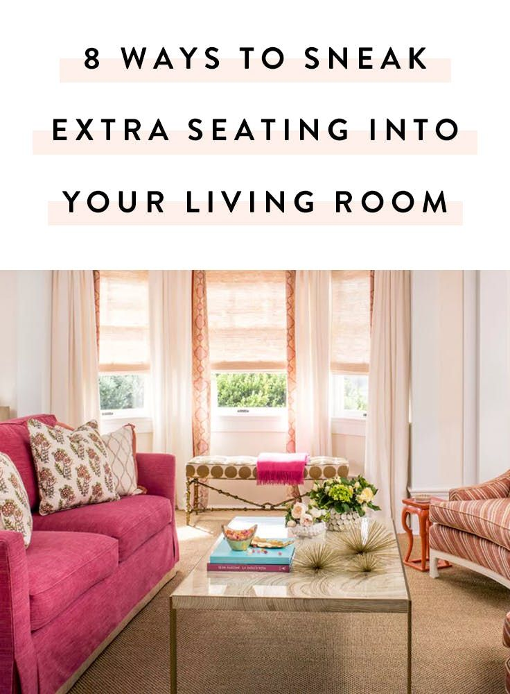 Best 25 extra seating ideas on pinterest corner bench - What to do with an extra living room ...