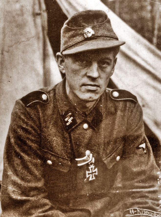 "This is Arild Hamsun, son of Norway's pre-eminent, world known writer and Nobel Prize winner Knut Hamsun. He was a volunteer of 5. Waffen SS Division ""Viking"". He is pictured here after having been decorated with the Iron Cross, 2nd class for bravery under fire. The photo was taken in October 1943 in Russia."